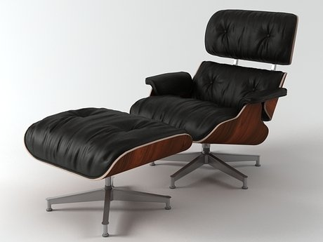 Eames Lounge Chair and Ottoman 8