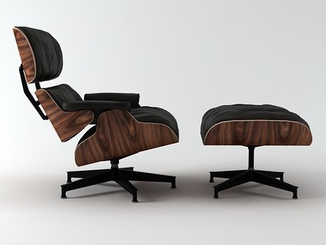 Eames Lounge Chair and Ottoman 1