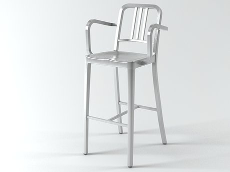 Navy Barstool With Arms 5