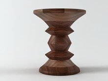 Eames Walnut  Stool 1