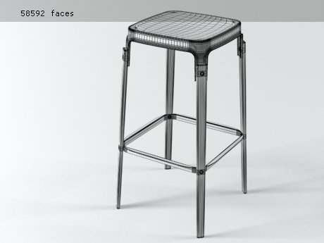 Steelwood  stool 11