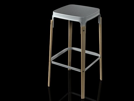 Steelwood  stool 7