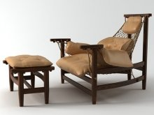 Jangada lounge chair and otoman