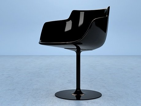 Flow armchair-central leg 26