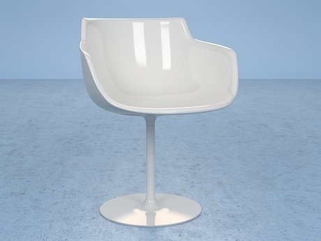 Flow armchair-central leg 19