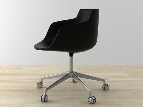 Flow armchair 5-star base 21