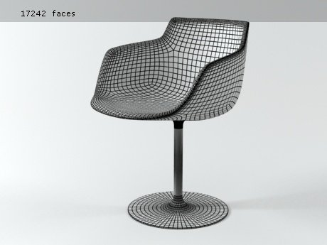 Flow armchair-central leg 28