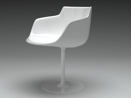 Flow armchair-central leg 22