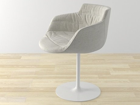 Flow armchair-central leg 6