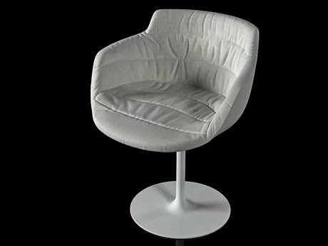 Flow armchair-central leg 8