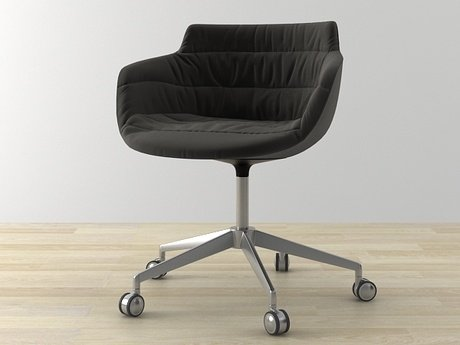 Flow armchair 5-star base 6
