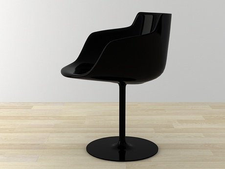 Flow armchair-central leg 24