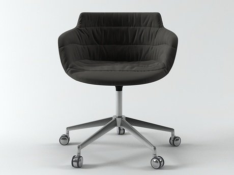 Flow armchair 5-star base 3