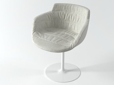 Flow armchair-central leg 4