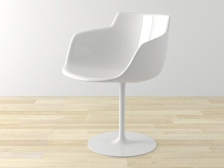 Flow armchair-central leg 17