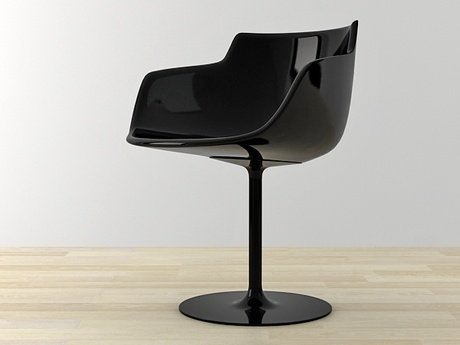 Flow armchair-central leg 25