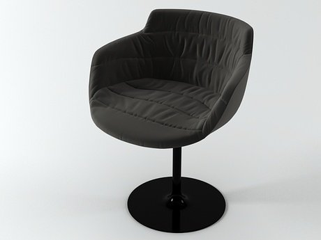 Flow armchair-central leg 12