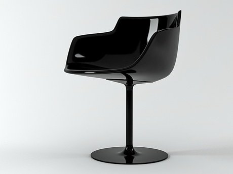 Flow armchair-central leg 23