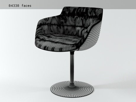 Flow armchair-central leg 27