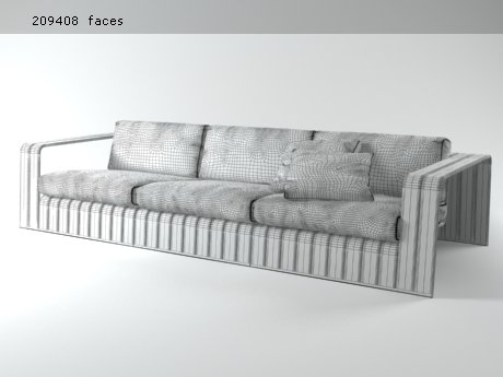 Frame 3-seat sofa 16