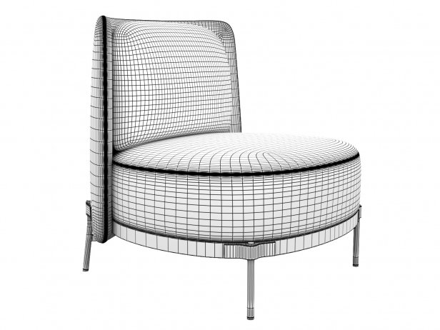 Tape Armchair without Armrests 4