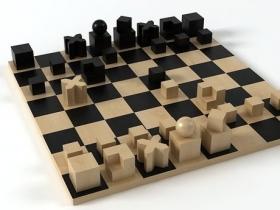 Bauhaus chess pieces