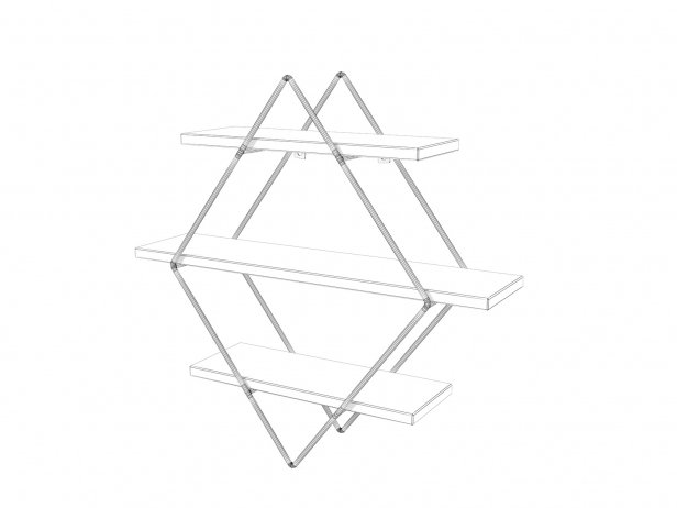Diamond Cross Planes Shelf 4