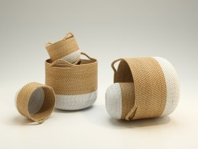 M & S Two Round Weave Baskets