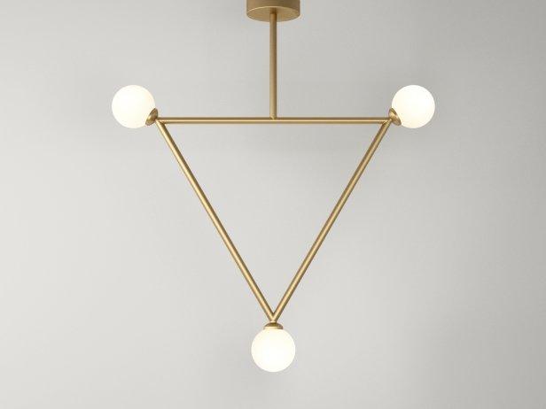 Triangle 1 Globe Pendant Lamp 1