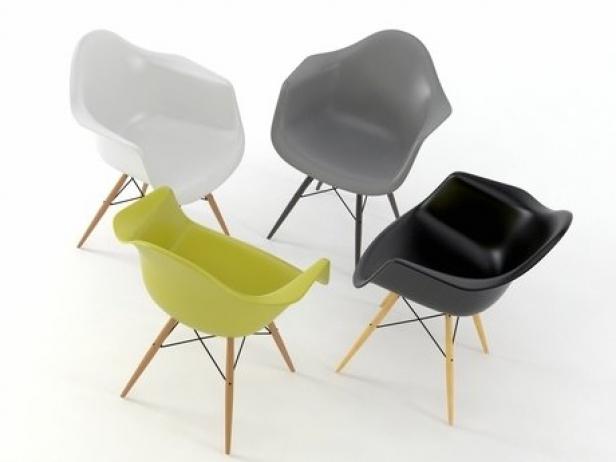 Eames Plastic Armchair DAW 6