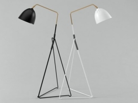 Lean floor lamp