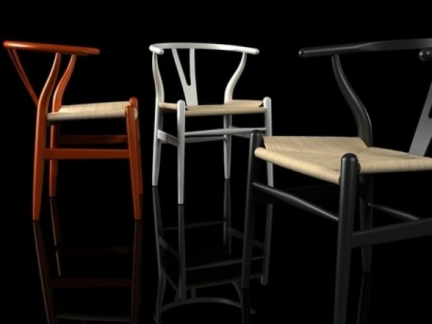 ch24 wishbone chair 3d model carl hansen