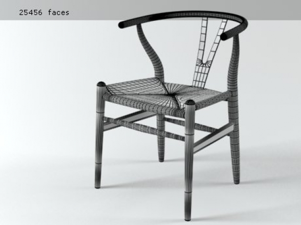 ch24 wishbone chair 3d model carl hansen