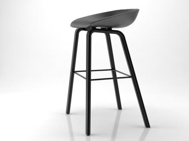 about a stool 3d model hay. Black Bedroom Furniture Sets. Home Design Ideas