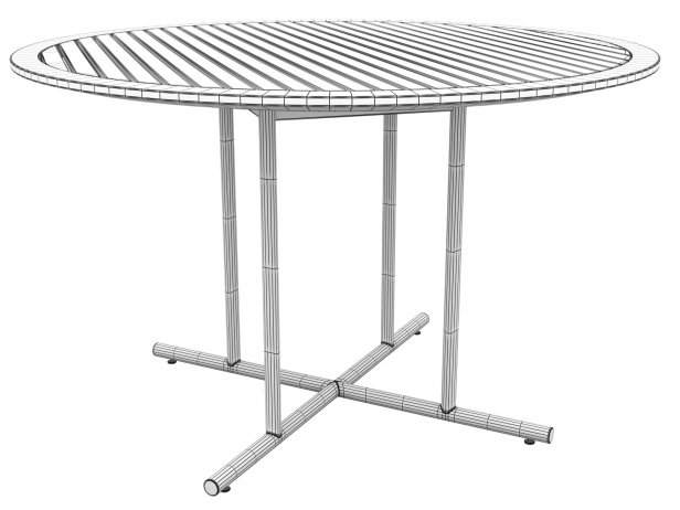 Outdoor Dining Table 120 5