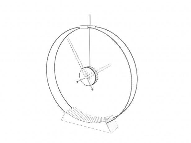 Double Rings Desk Clock 5