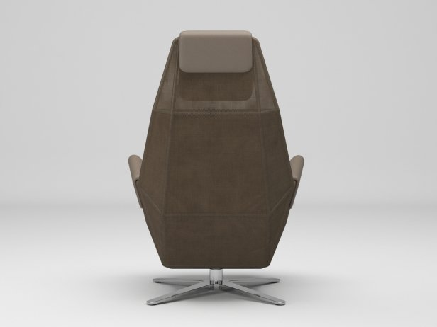 1717 Mesh 805 Armchair and 750 Footstool 3