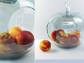 POLS POTTEN Apple Glass Fruit Bowl