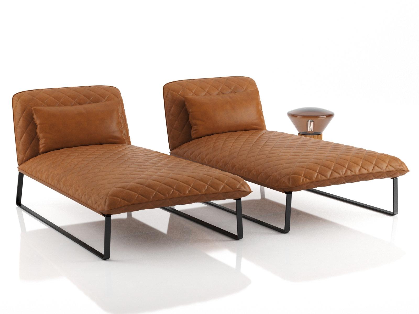 Kekke chaise longue 3d model piet boon for Chaise 3d dessin