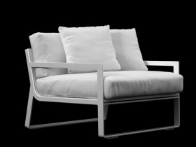 Flat armchair