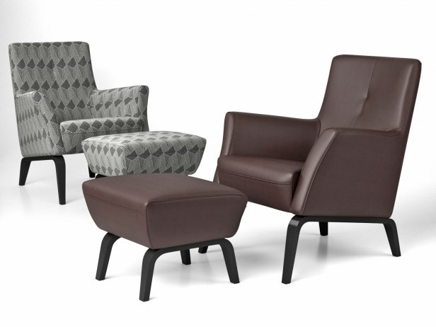 Palio Armchair Low + Pouf 1
