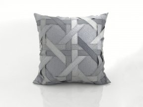 Lattice Silk Dupioni Pillow