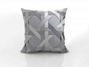 Lattice Silk Dupioni Pillow