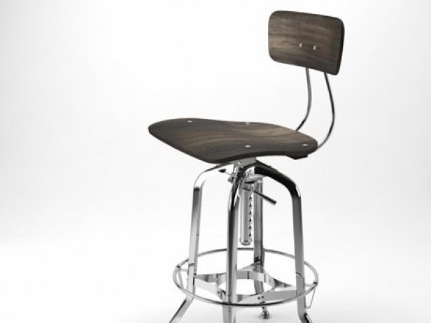 Vintage Toledo Bar Chair 3d model