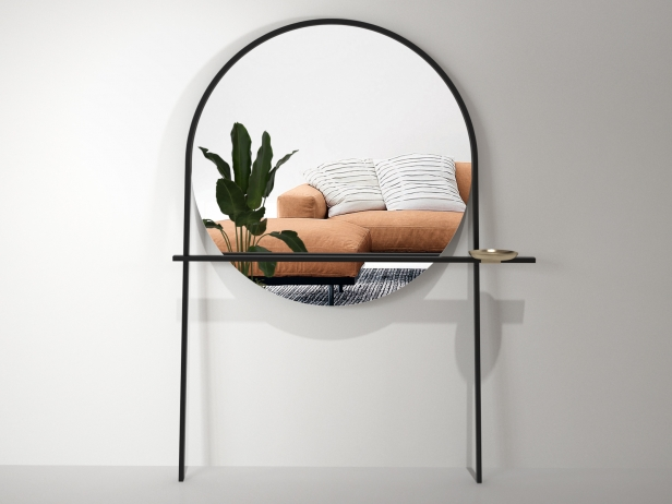 Geoffrey Mirror and Clothes Stand 2