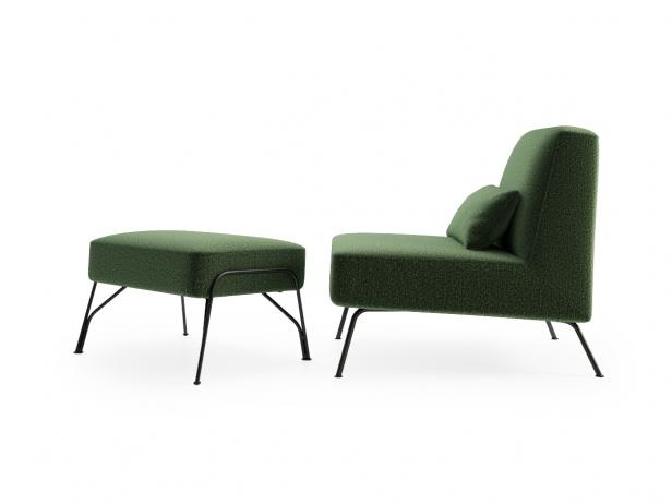 Humphrey Fireside Chair & Ottoman 3