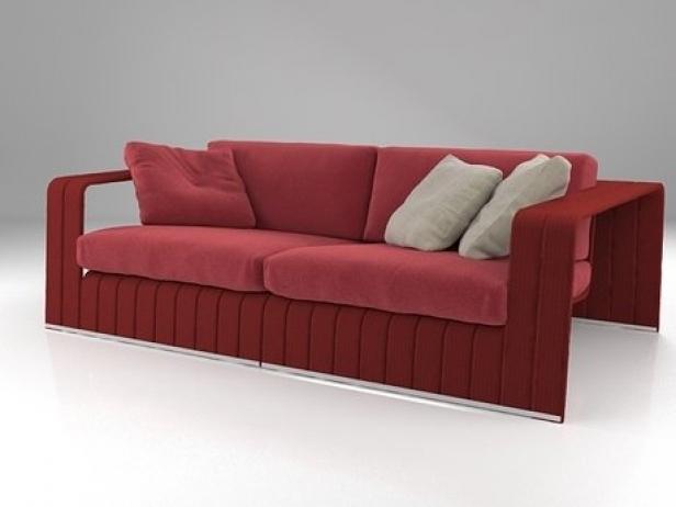 frame 2 seat sofa 3d modell paola lenti. Black Bedroom Furniture Sets. Home Design Ideas