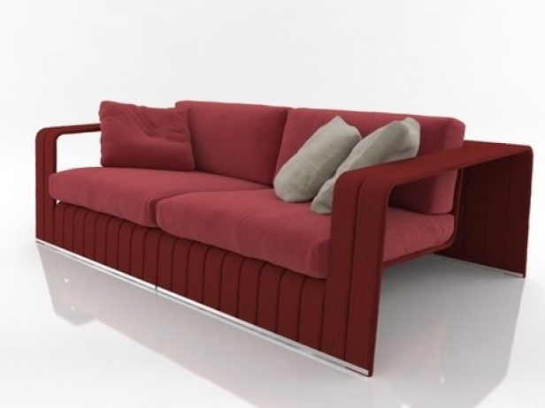 frame 2 seat sofa 3d modell paola lenti. Black Bedroom Furniture Sets. Home Design Ideas