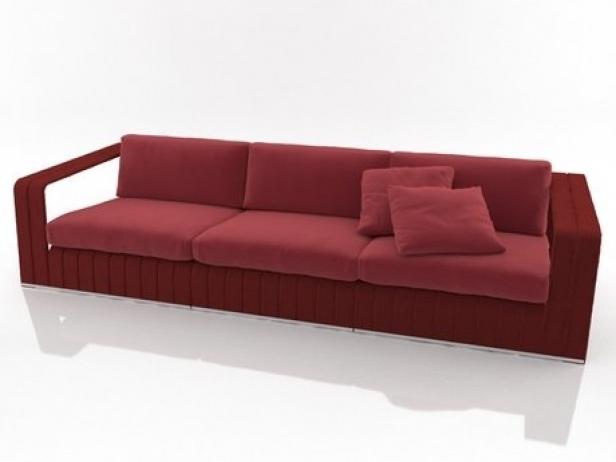 frame 3 seat sofa 3d modell paola lenti. Black Bedroom Furniture Sets. Home Design Ideas