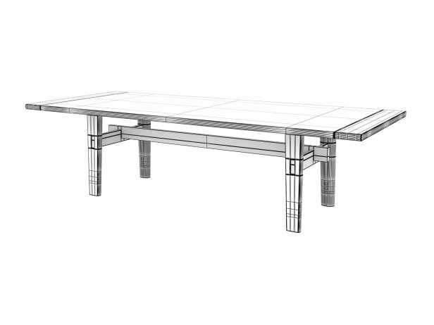 Home Hotel Rectangular Dining Table 5